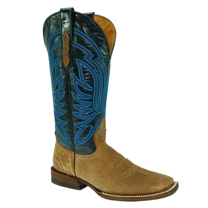 Stt Navy Top Brown Antique Saddle Bullhide Women's Boots