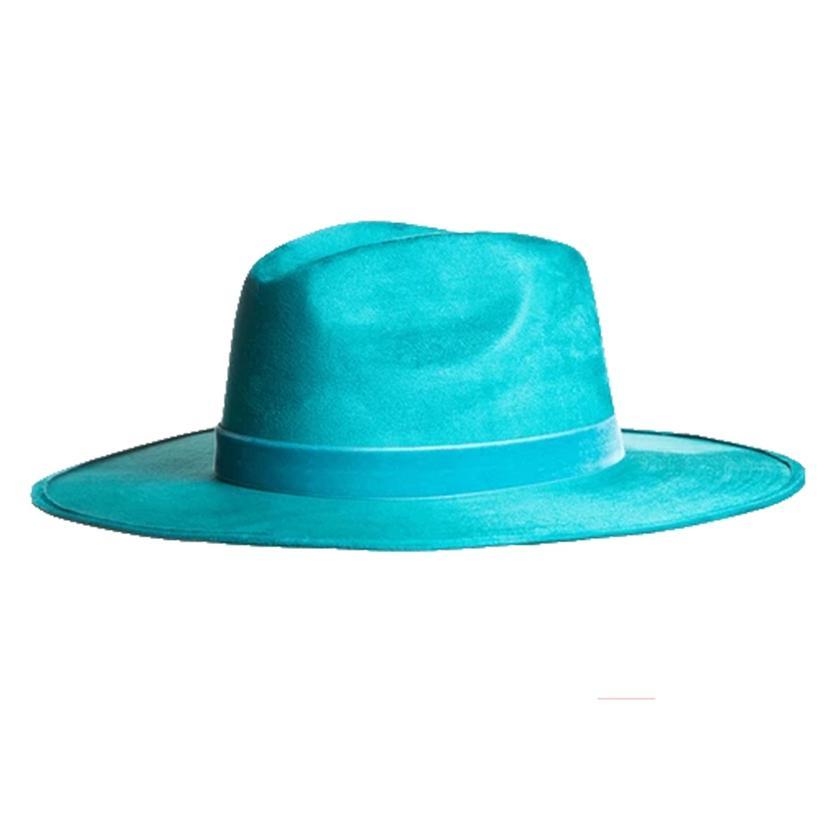 Asn Hats Rancher Etoile Elaina Teal Felt Hat