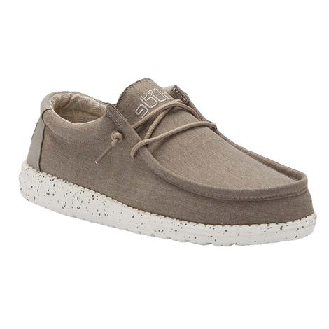 Hey Dude Wally Chambray Sepia Brown Men's Shoes