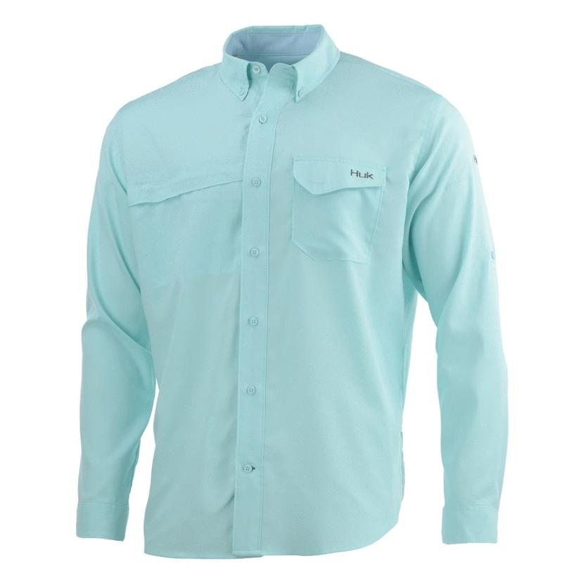 Huk Tidepoint Seafoam Long Sleeve Men's Shirt
