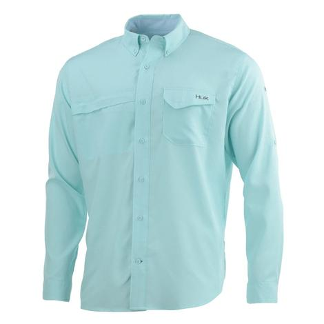 HUK Tidepoint Seafoam Long Sleeve Men's Shirt