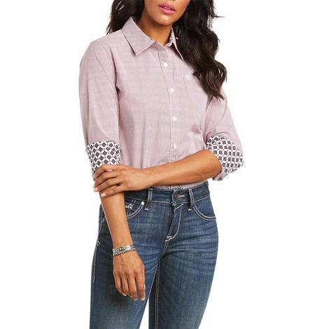 Ariat Kirby Stretch Red Stripe Long Sleeve Buttondown Women's Shirt