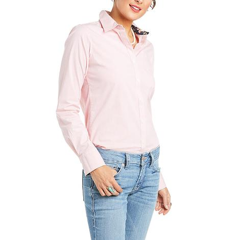 Ariat Kirby Stretch Orange Stripe Long Sleeve Buttondown Women's Shirt