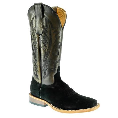 STT Rough Out Black Toe Bug Burned Saddle Men's Boots