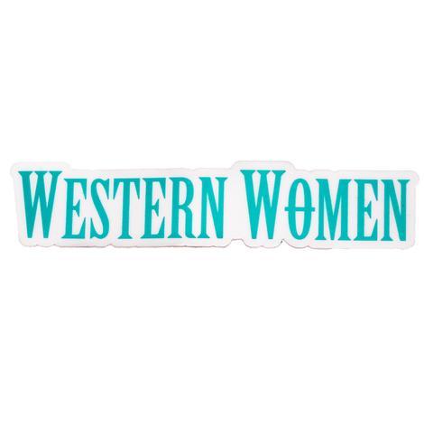 Western Women Sticker