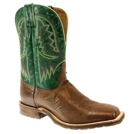 Tony Lama Campbell Kango Tobac Smooth Ostrich Green Top Men's Boot