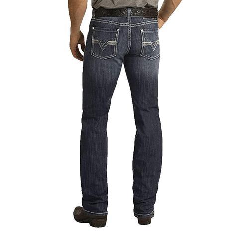 Rock and Roll Cowboy Reflex Revolver Dark Wash Straight Leg Men's Jeans