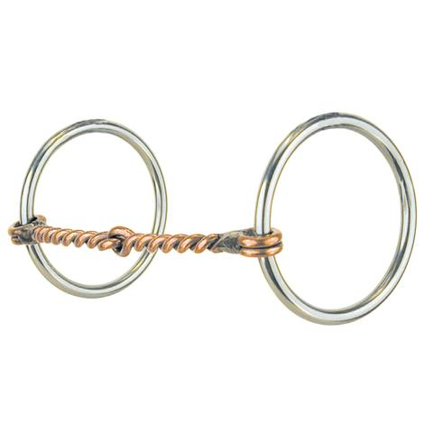 Reinsman Medium Twisted Copper Snaffle