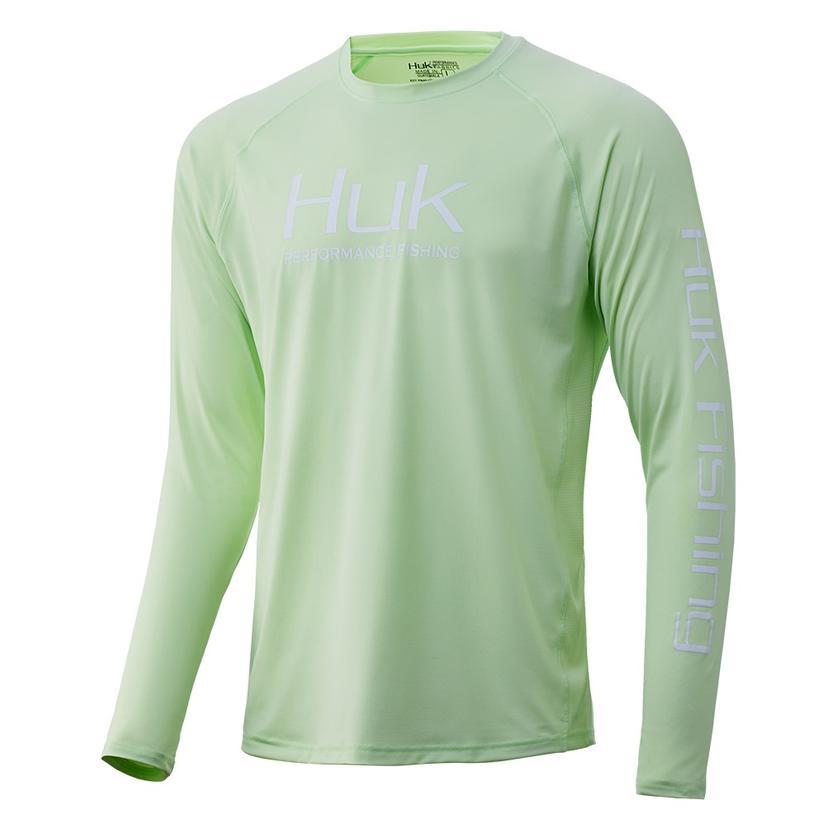 Huk Pursuit Vented Long Sleeve Keylime Men's Shirt