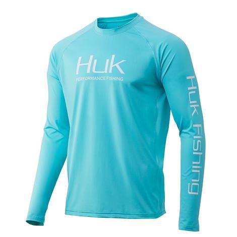HUK Pursuit Vented Long Sleeve Blue Radiance Men's Shirt