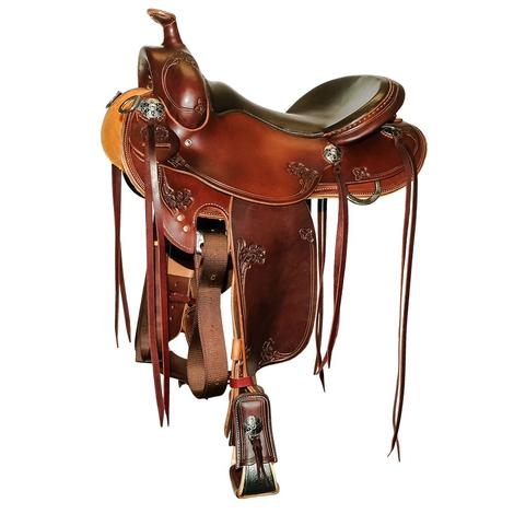STT Exclusive Full Slickout Trail Saddle with Round Skirt