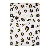Style White Leopard Journal with Elastic