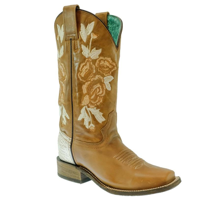 Corral Honey Bone Floral Embroidered Women's Boot