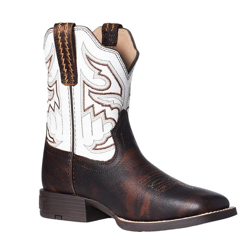 Ariat Chocolate And White Sorting Pen Boy's Boots