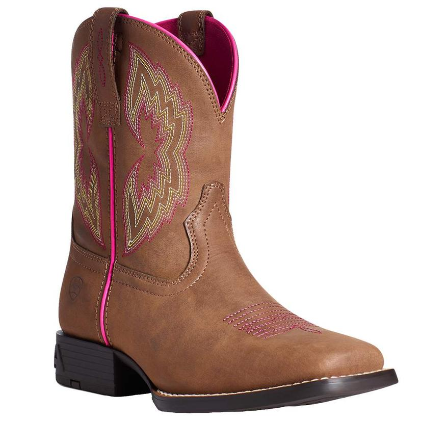 Ariat Tan And Hot Pink Dash Girl's Boots