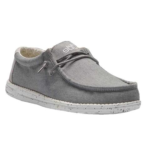 Hey Dude Wally Sox Frost Grey Men's Shoes