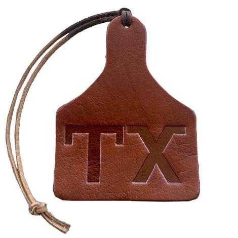 Leather Cow Tag Air Freshener - Leather