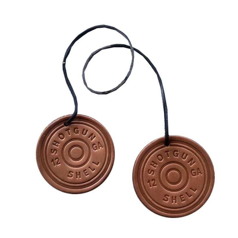 Double Barrell Shotgun Leather Air Fresheners - Butt Naked