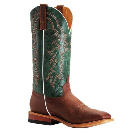 Horsepower Green Stitched Sugared Honey Men's Boots