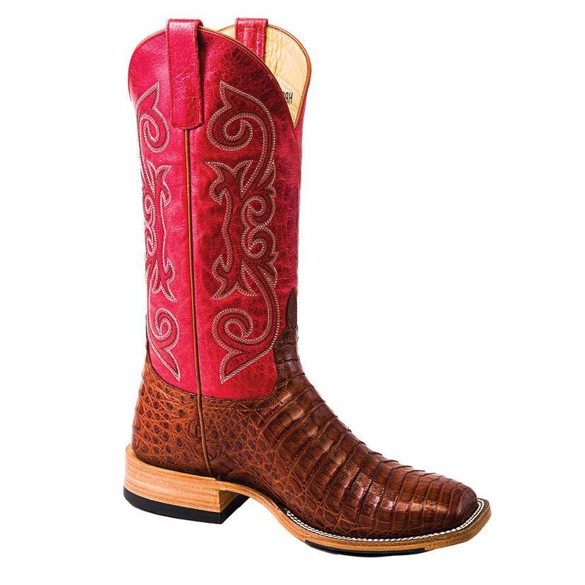 Horsepower Brandy Caiman Belly Red Men's Boots