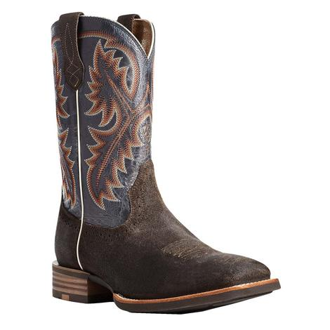 Ariat Quickdraw Roughout Dark Brown Men's Boots