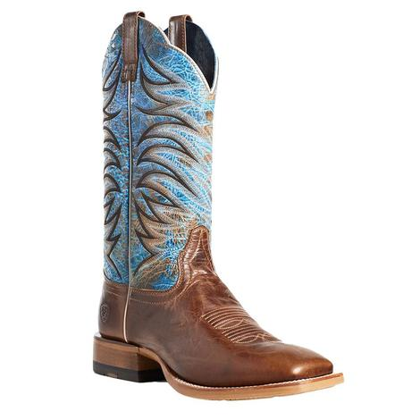 Ariat Firecatcher Well Brown Blue Men's Boots