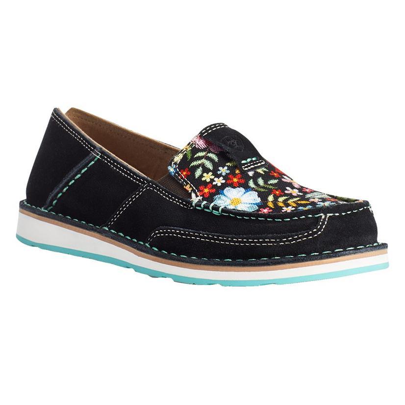 Ariat Black Suede Pop Floral Cruiser Women's Shoes