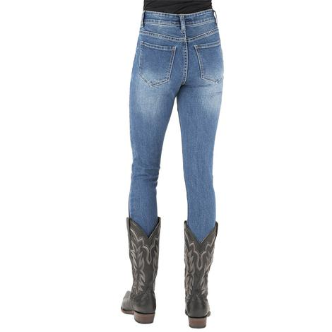 Stetson High Waist Plain Pocket Women's Skinny Jeans