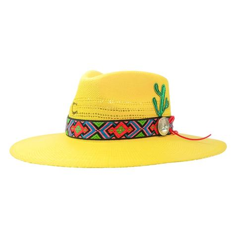 Charlie 1 Horse Mariachi Yellow Straw Hat
