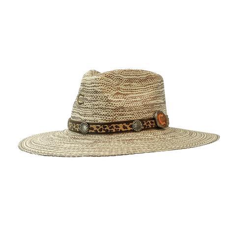 Charlie 1 Horse Prowlin Round Straw Hat
