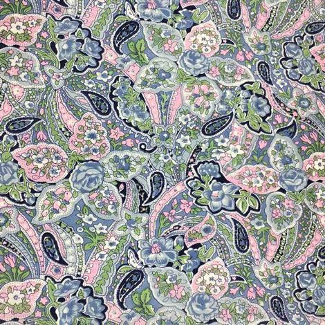 Wild Rag Blue Pink Paisley 34.5x34.5