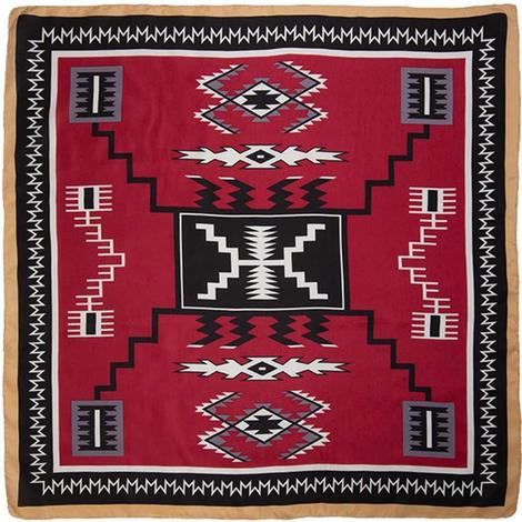 Wild Rag Aztec Maroon 34.5x34.5