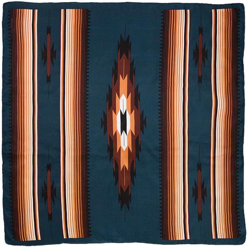 Wild Rag Aztec Teal 34.5x34.5
