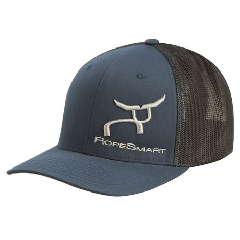 RopeSmart Navy Black with Silver Embroidery Meshback Cap