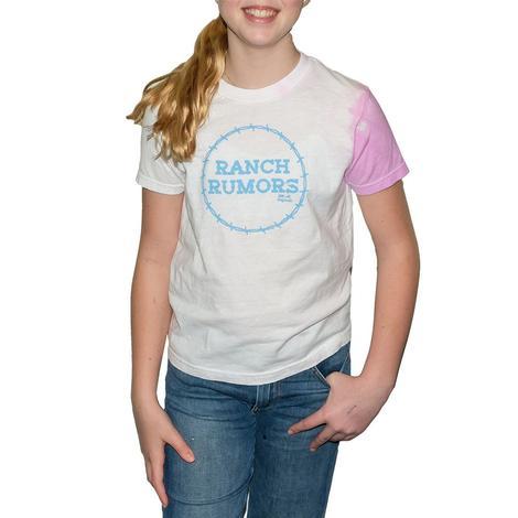 Elle M Originals Ranch Rumors Pink White Tie Dye Girl's Tee