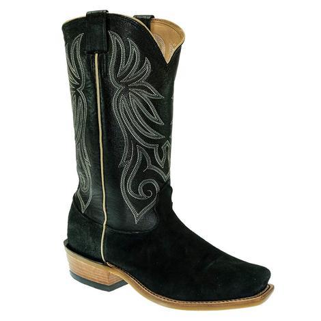 Fenoglio Black Roughout Men's Boots
