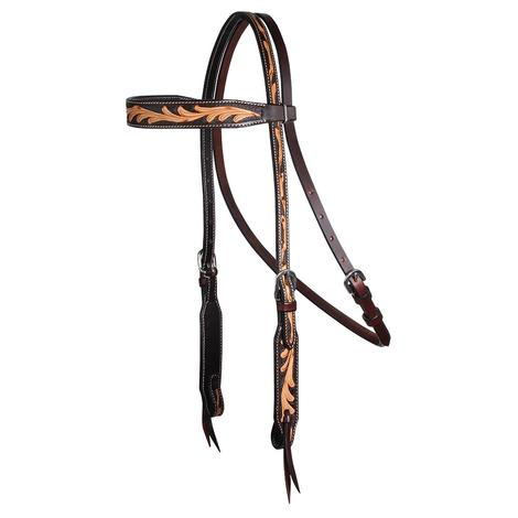 Professional Choice Floral Scroll Leather Browband