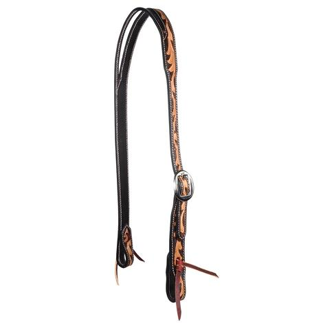 Professional Choice Floral Scroll Leather Split Ear Headstall