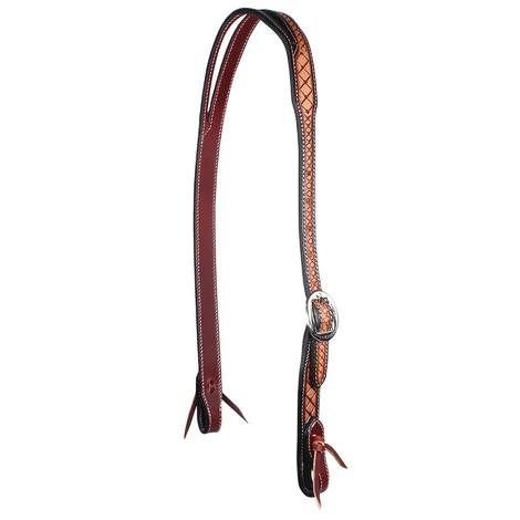 Professional Choice Crosshatch Leather Split Ear Headstall