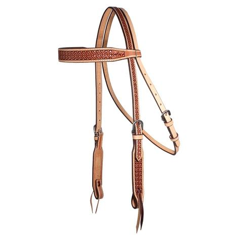 Professional Choice Windmill Leather Browband Headstall
