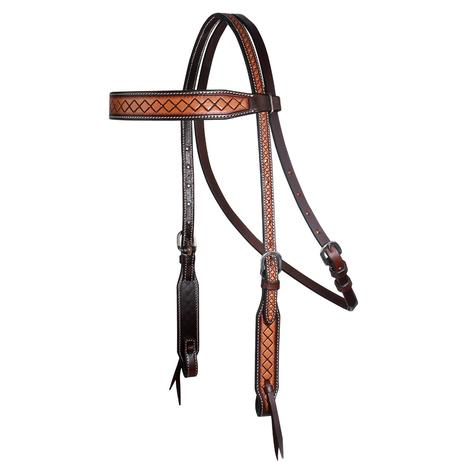 Professional Choice Crosshatch Leather Browband Headstall