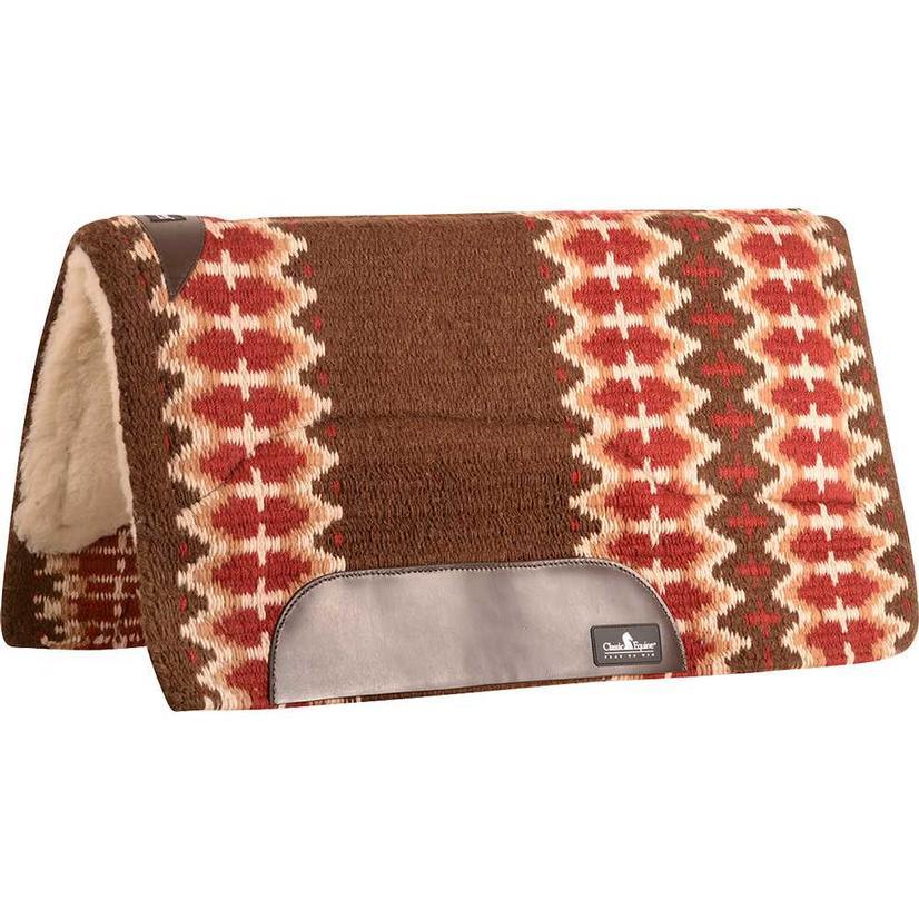 Sensorflex Wool Top Pad 34x38 CHESTNUT/RED