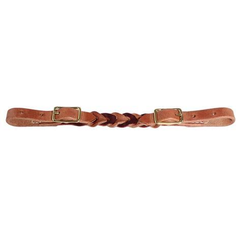 Bleeding Heart Curb Strap Harness and Latigo Leather