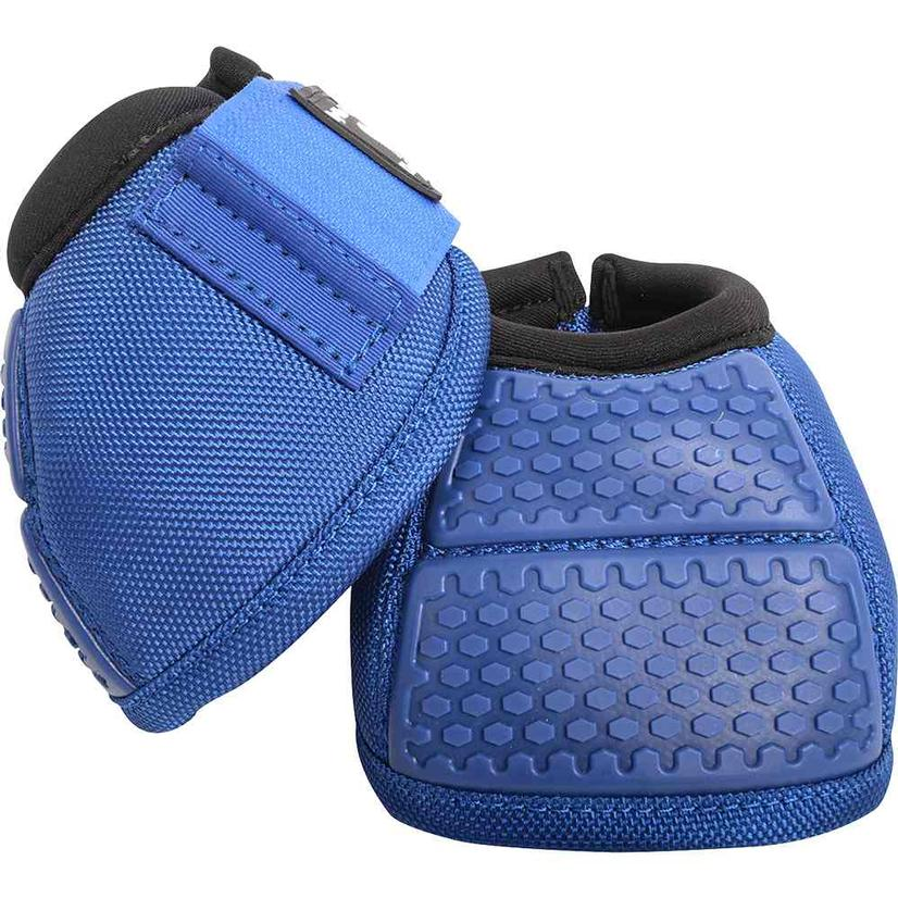 Classic Equine Flexion No Turn Bell Boots BLUE