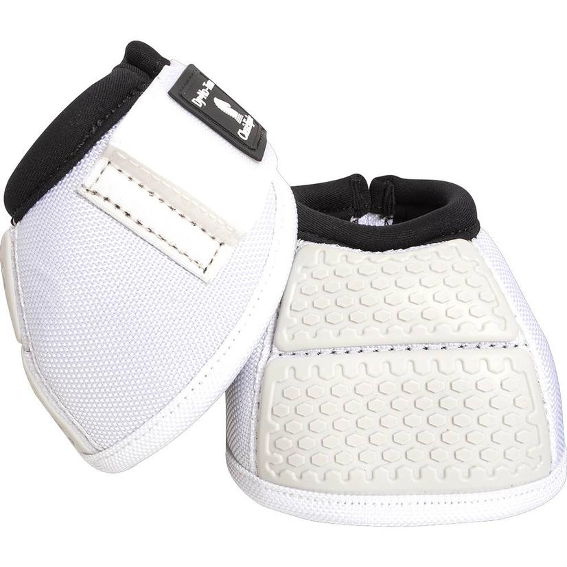 Classic Equine Flexion No Turn Bell Boots WHITE
