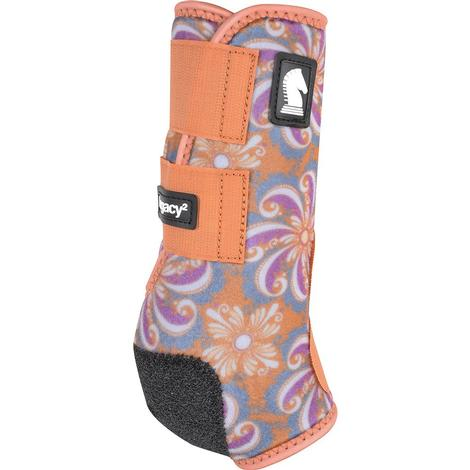 Classic Equine Legacy2 Front Sport Boots - Turquoise and Pinwheel