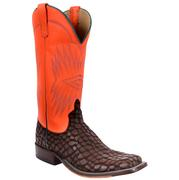Anderson Bean Women's Orange Dayglow Loch Ness Leather Cowboy Boots