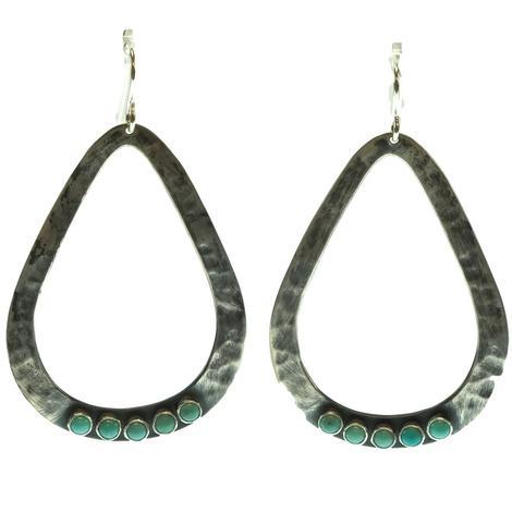 Silver Dangle Five Stone Earrings