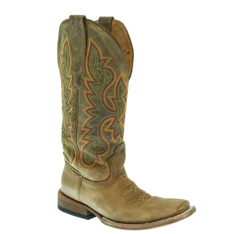 STT Brown Horse Women's Square Toe Boot