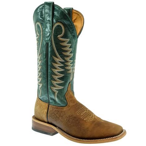 STT Green Bullhide Mens Boots